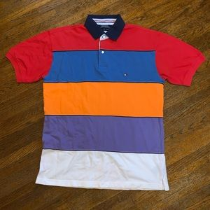 Vintage 90s Tommy Hilfiger Striped Polo